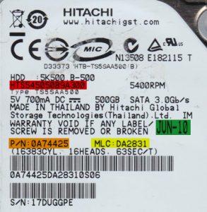 هارد مشابه برای تعویض هد هارد IBM Hitachi