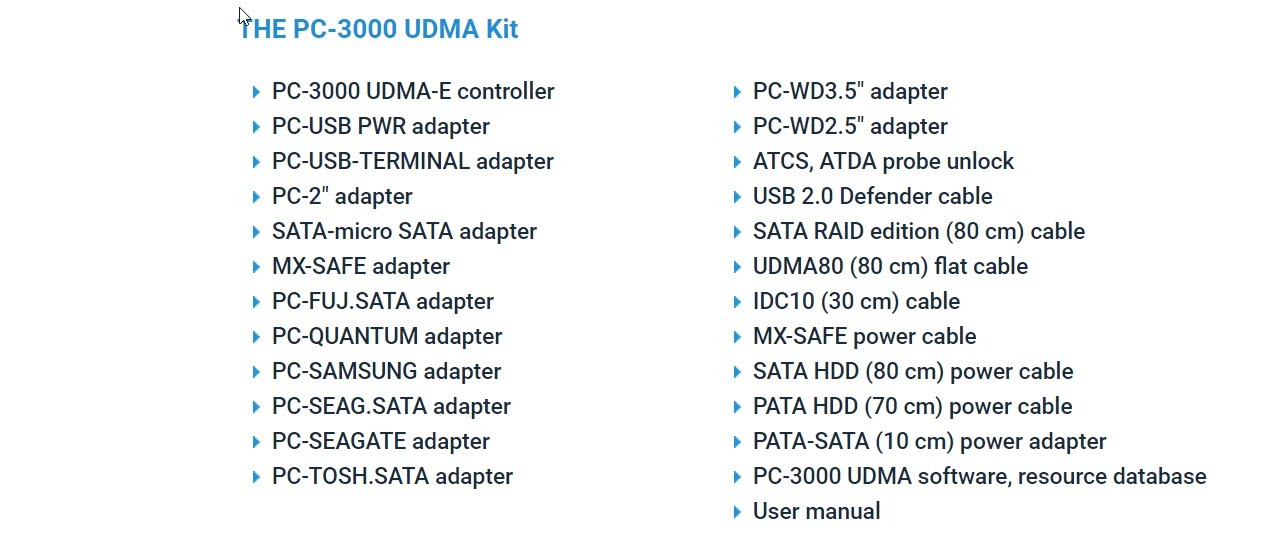 PC-3000 دستگاه تعمیر و بازیابی اطلاعات