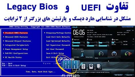 فرق UEFI و legacyBIOS
