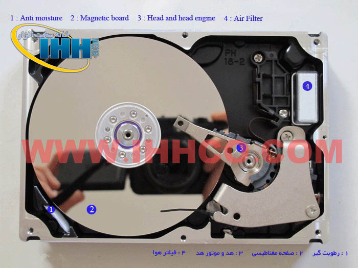 اجزای هارد دیسک