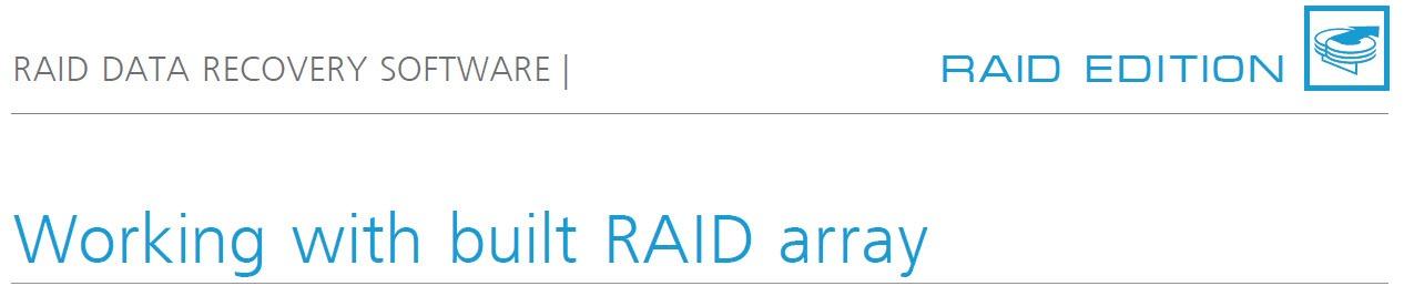 raid working with built raid